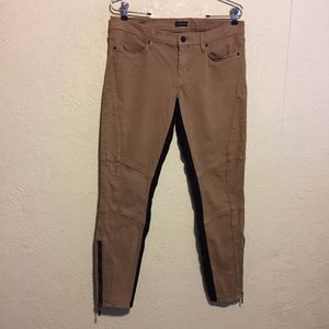 Marciano Ankle Zipper Skinny Stretch Riding Pants